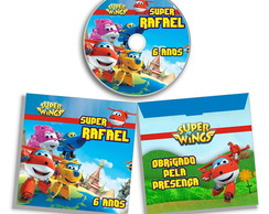 Dvd ou Cd personalizado Super Wings