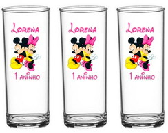 Copo Long Drink Mickey, Minnie, Baby Disney