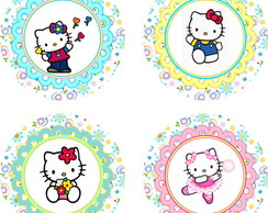 Hello Kitty 25 Toppers Adesivos