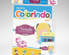Kit Colorir Alice + 3 super brindes