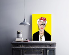 "Placa decorativa ""Frida Khalo"""
