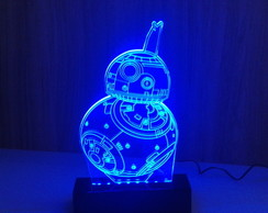 Luminária Star Wars Droid BB-8 LEDS