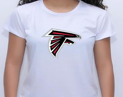 camiseta baby look atlanta falcon