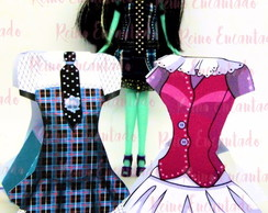 Caixa Vestido Monster High