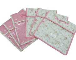 KIT ENVELOPES ORGANIZADORES ROSA FLORAL