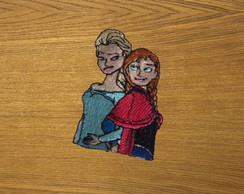 Patch Bordado Elsa e Anna 1 - Frozen