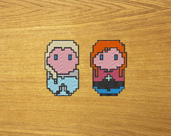 Patches Bordados Elsa e Anna 2 - Frozen