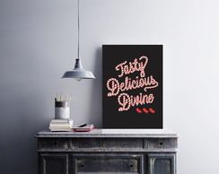 "Placa decorativa ""Tasty Delicious"""