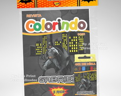 Kit Colorir Batman + 3 super brindes