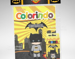 Kit de Colorir Batman + 3 super brindes