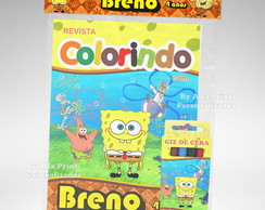 Kit Colorir Bob Esponja + super brindes