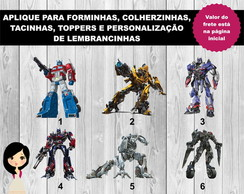 Aplique Transformers 4cm