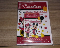 Kit de Livro de Colorir Minnie com Giz