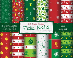 [NATAL-01] Papel Digital Natal - kit boas festas
