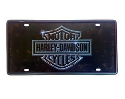 Placa de Metal Decorativa Moto emblema