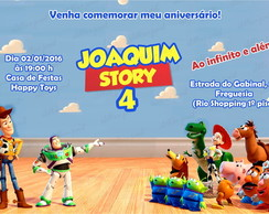 Convite digital tema Toy Story