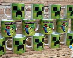 Caneca Minecraft Creeper Polimero