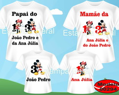 Kit Familia Camisetas Mickey/Minnie