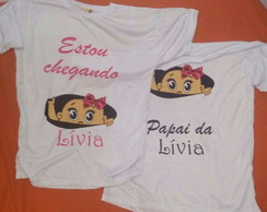 kit camisetas mamãe e Papai