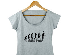 Camiseta Feminina AC/DC Rock Evolution