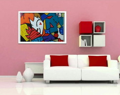 Tela Best Friends - Romero de Britto