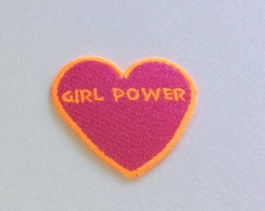 PATCH CORAÇAO GIRL POWER TERMOCOLANTE