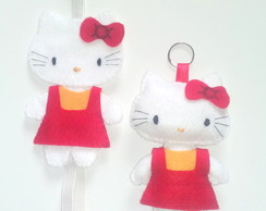 Marcador e chaveiro Hello kitty