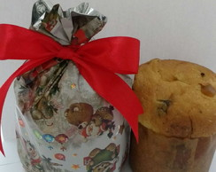 Mini panetone decorado.