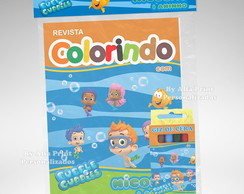 Kit Colorir Bubble Guppies + 3 brindes