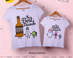 T-shirt mãe e filha The Best Friends