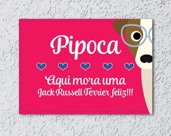 Placa Decorativa Jack Russell Terrier
