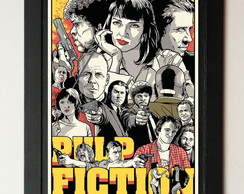 Quadro mdf Pulp Fiction