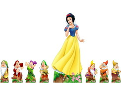 KIT DISPLAY DE CHAO MESA BRANCA DE NEVE