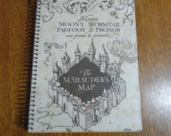Caderno Harry Potter map grifinoria