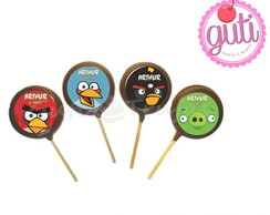 Pirulito chocolate belga - Angry Birds