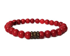 Pulseira Element Pedra Coral Composto