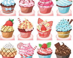 Kit Cenario Display De Mesa Cupcakes
