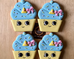 Biscoitos Decorados - Shopkins Cupcake