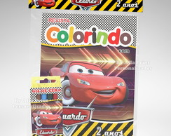 Kit Colorir Carros + 3 super brindes