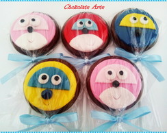 Pirulito de chocolate Super Wings