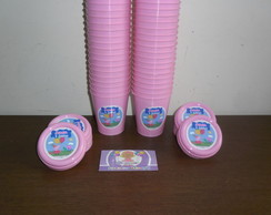 Copinhos 200ml Com tampa Pepa Pig