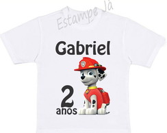 Camiseta da Patrulha Canina Camiseta do Marshall