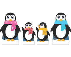 Kit Cenario Display De Chao Pinguins
