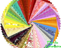 Super Kit Tecido Multicolorido Patchwork 25cm x 35cm