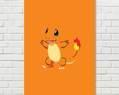 Placa Decorativa Pokemon Charmander