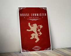 Quadro Game of Thrones Poster Lennister