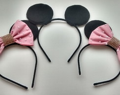 Kit 3 Tiaras (2 Minnie e 1 Mickey)