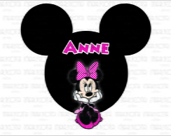 Placa da Minnie