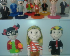 Turma do chaves (08 bonecos)