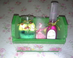 Kit Caixote Vela Aromatizada+Home Spray""